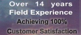 Over 14 years experience